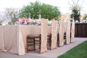 Sequin tablecloth 6 foot sweetheart table