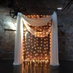 Ceremony Backdrop and Lighting Installation at King Plow Arts Center