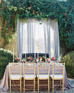 Gray Chiffon Draped Backdrop-crush-event-rentals