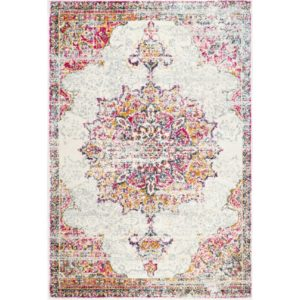 Pale Pink Medallion rug