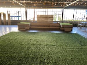 Turf-dance-floor-pallet-stage-front-and platforms